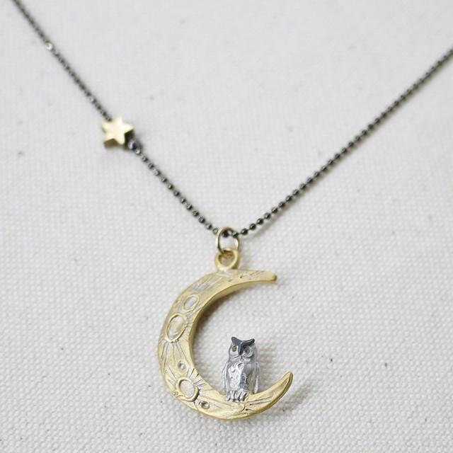【ネックレス】ムーンレィスネックレス『月夜のフクロウ』