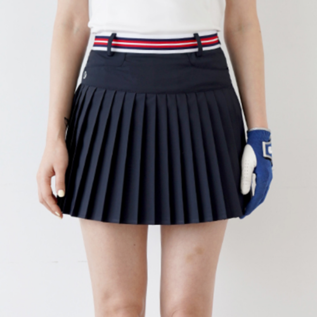 Band pleats skirt (Navy) ?