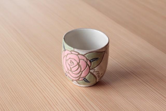 湯呑み「バラピンク」 岡美希