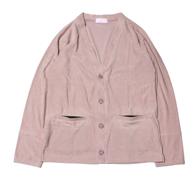 """EACHTIME. """"Pile Cardigan"""" Pink"""