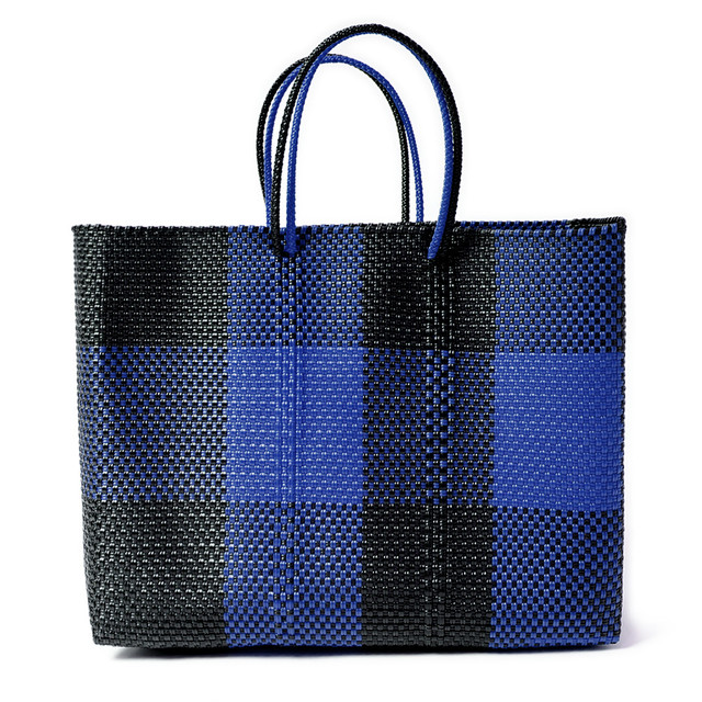 MERCADO BAG TABLERO- NAVY x Black(L)