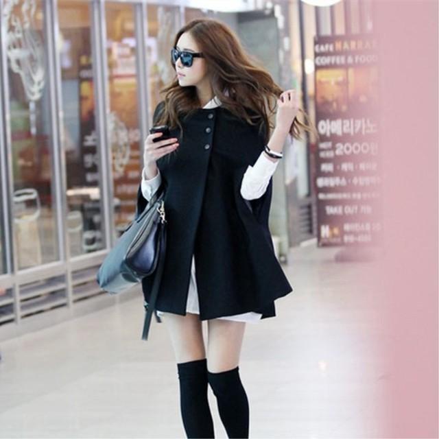 【outer】新作トレンドファッション感満々優雅な印象ケープ 24038895