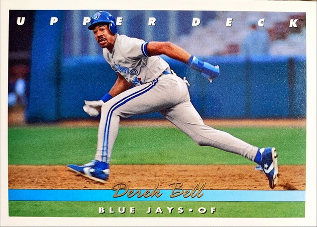 MLBカード 93UPPERDECK Derek Bell #158 BLUEJAYS