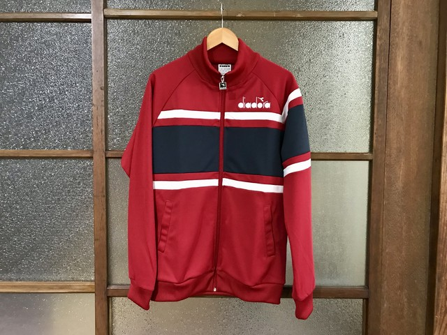 DIADORA 80S TRACK TOP (RED/NAVY/WHITE)