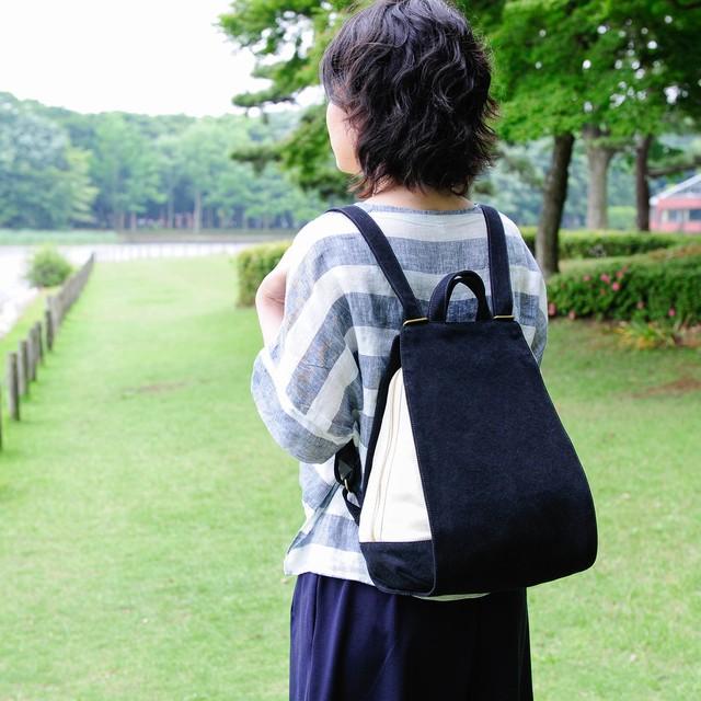 ワッフル / ブラック × アイボリー 【受注制作】
