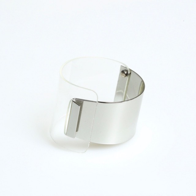 Metallic Clear Bangle