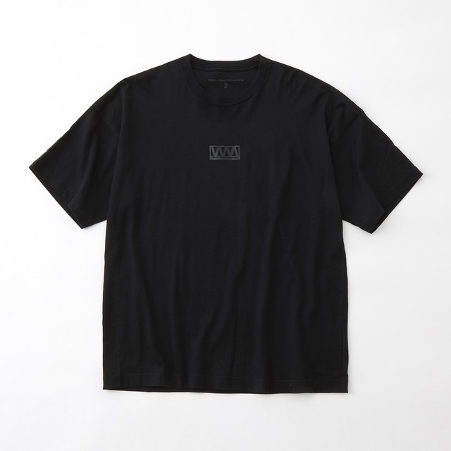WIDE PRINTED T-SHIRT- BLACK