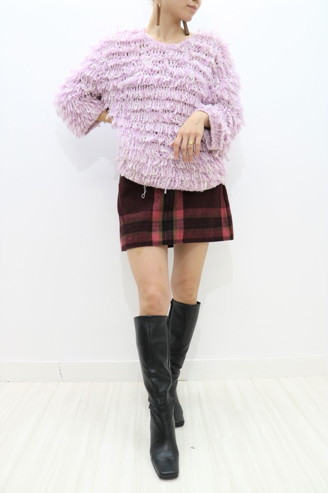 fringe crew neck knit / TP11020008
