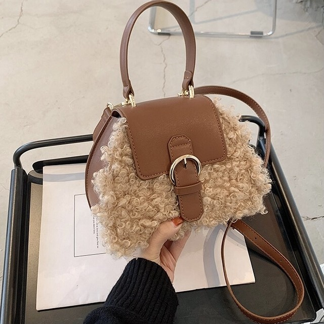 leather contrast sheep bag 3c's