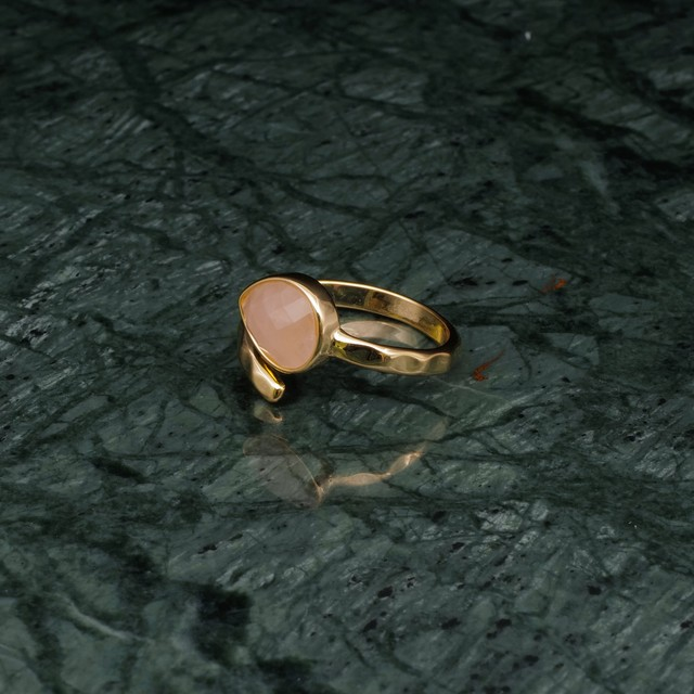 SINGLE STONE OPEN RING GOLD 005