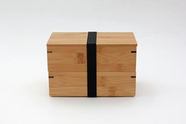 竹・二段弁当箱(角長タイプ)