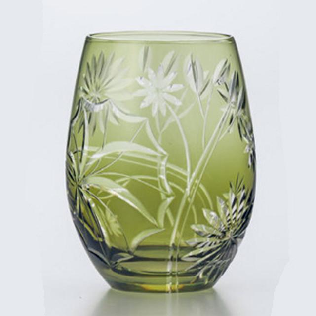 東洋佐々木ガラス キリコ タンブラー 350ml きぬた草