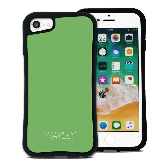 スモールロゴ グリーン セット WAYLLY(ウェイリー) iPhone 8 7 XR XS X 6s 6 Plus XsMax対応!_MK_