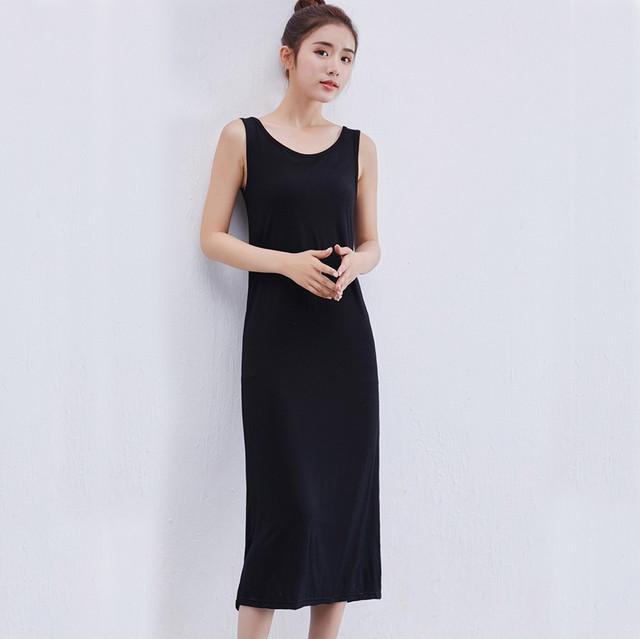 【dress】カジュアル無地ロングプルオーバーワンピース