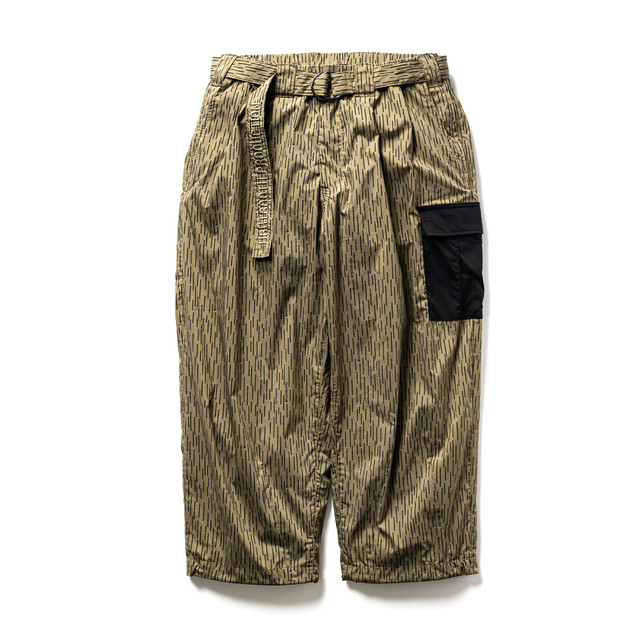 TIGHTBOOTH RAIN CAMO BAGGY PANTS OLIVE