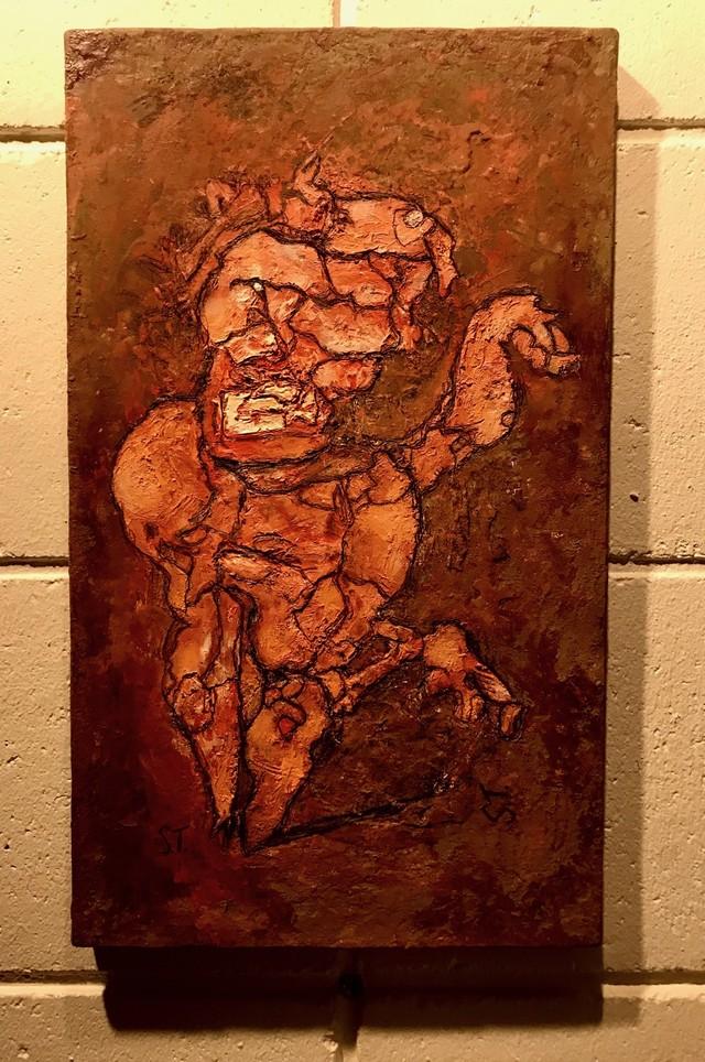 不思議な生き物(油彩画)