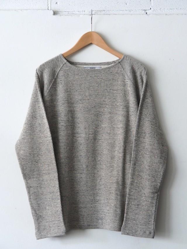 FUJITO L/S Boatneck Shirt Top Gray,Khaki,Black