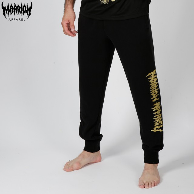MARRIONAPPAREL LOGO SWEATPANTS (Black×Gold)