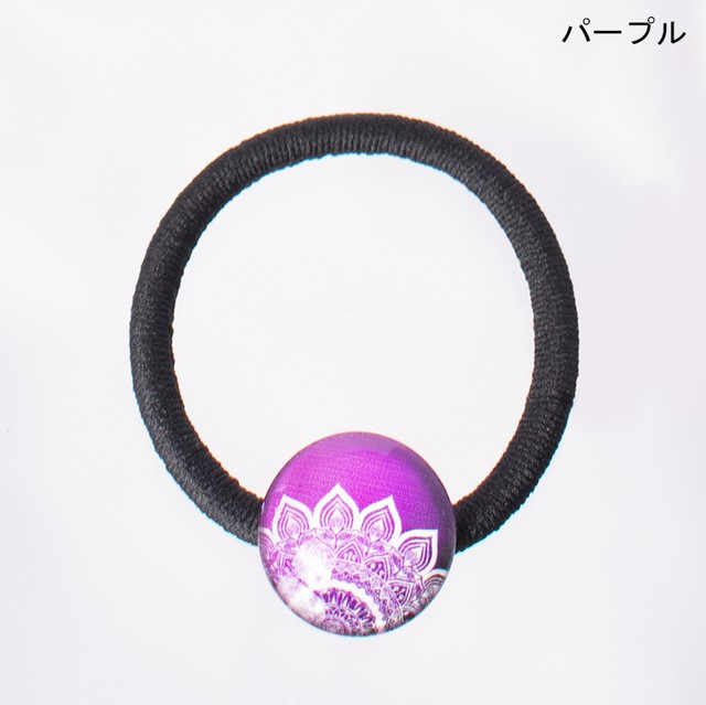 ヘアゴム マンダラ Elastic hair ties Mandala
