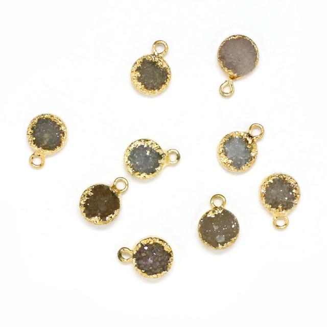 [天然石 パーツ]ドゥルージー カボションオーバル(アクア)1個 D0174