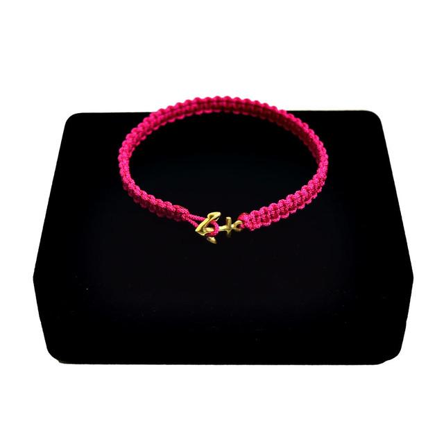 【無料ギフト包装/送料無料/限定/翌日発送】K18 Gold Anchor Bracelet / Anklet Pink【品番 17S2010】