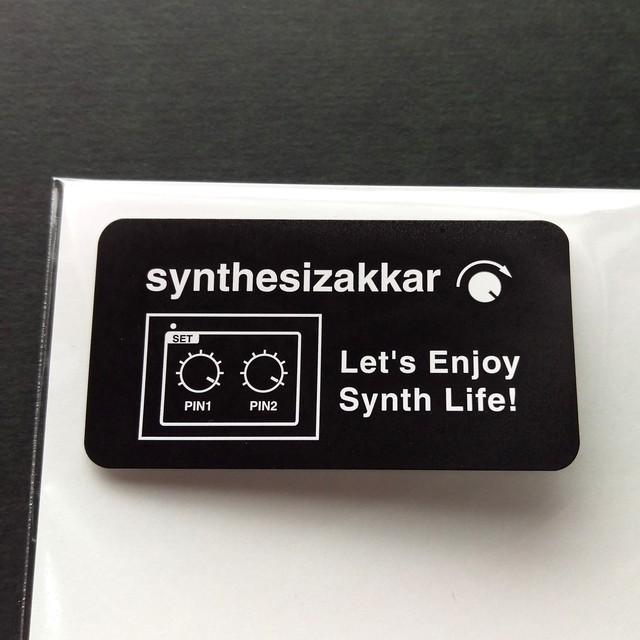 【シール】Let's Enjoy Synth Life!シンセサイザッカー シール大 5枚セット