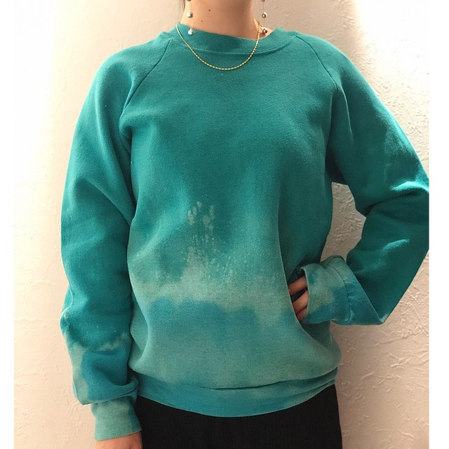 HIRAETH original bleach tye-dye sweat GRN