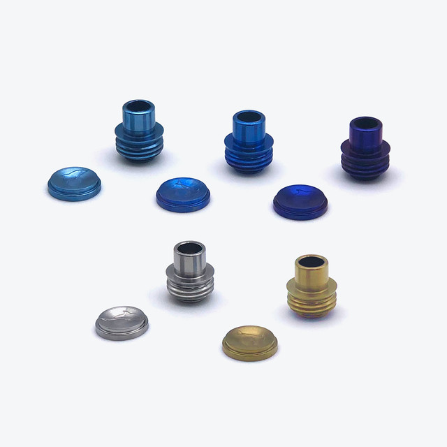 FFLUSH TITANIUM TIP & BUTTON SET (ROUND)
