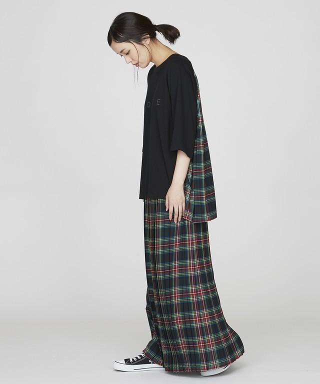 チェックプリーツスカート(ブラック)