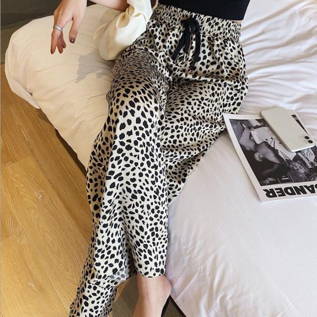 【ボトムス】激売れ中大人の定番 ファッション セクシー 履き心地いい レギュラー丈 ハイウエスト ヒョウ柄 カジュアルパンツ42524592