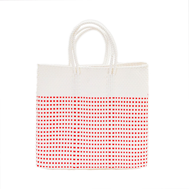 MERCADO BAG HALF MINI CHECK - White(M)