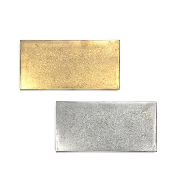 金・銀塗  長角プレート25cm