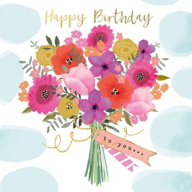 2021春夏新作【Paperproducts Design】バラ売り2枚 ランチサイズ ペーパーナプキン Happy Flowers ブルー