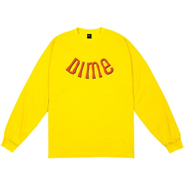 DIME WHIRL L/S SHIRT YELLOW
