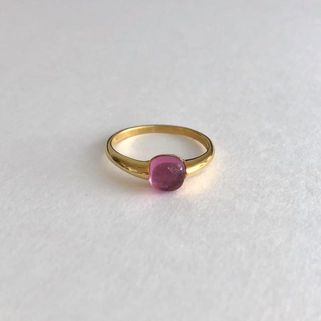 【holy ring】ピンククオーツのリング