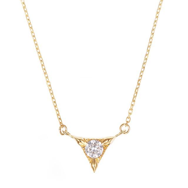 K10YGダイヤモンドネックレス 020209002253