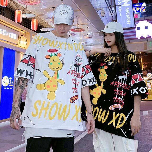 【トップス】キュートペアルックファッションストリート系アニメ図柄半袖Tシャツ47665786