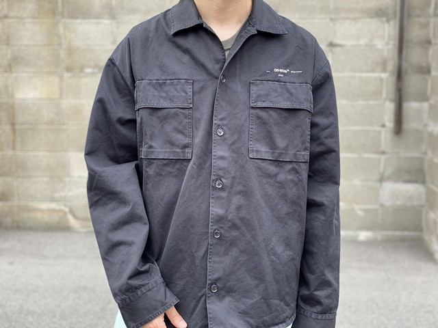 OFF-WHITE 2020 OVERSIZED WORK SHIRT JACKET BLACK SMALL 130JF6911