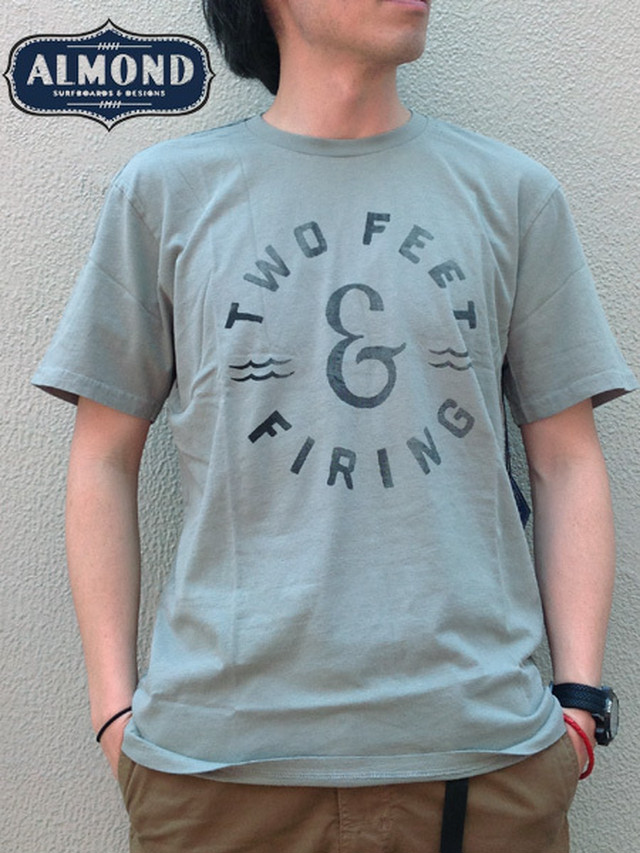 ALMOND SURFBOARDS&DESIGN (アーモンドサーフボードデザイン) TWO FEET&FIRING  T-SHIRTS Avocado(アボカド)