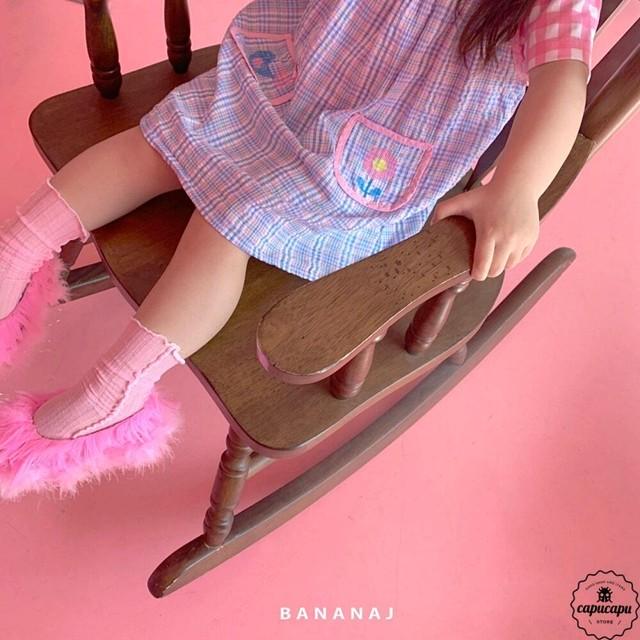 «予約» banana j check one piece 2color チェックワンピース