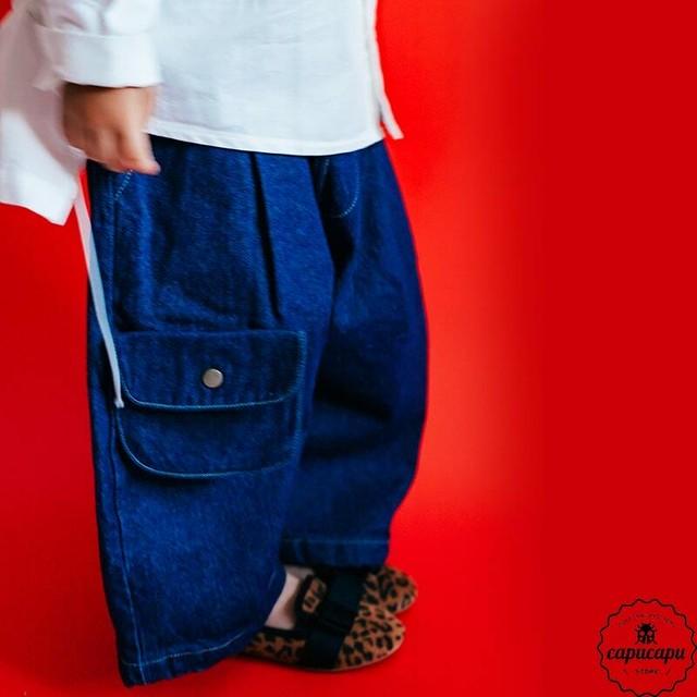 «予約» dressmonster Dungaree denim pants 2colors for size M,L,XL