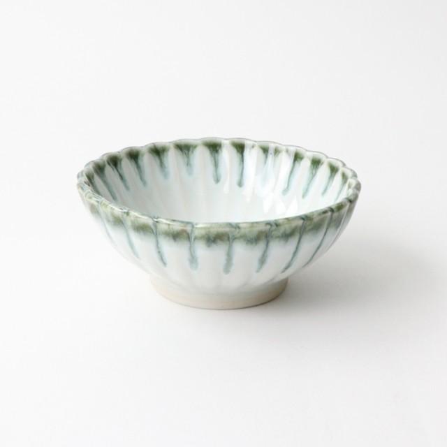 【SL0063】磁器 11cm 小鉢 白×淡緑