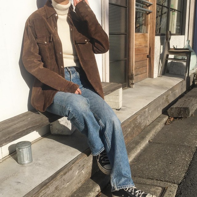 """USED """" suede western shirt """""""