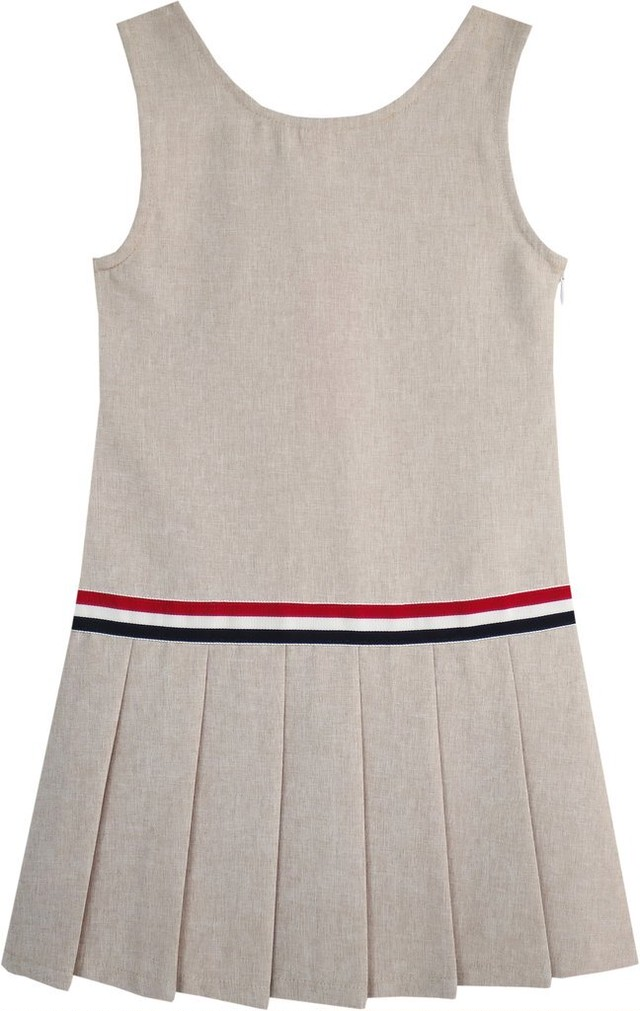 《school collection》Khaki School Pleated Skirt Dress (送料無料)