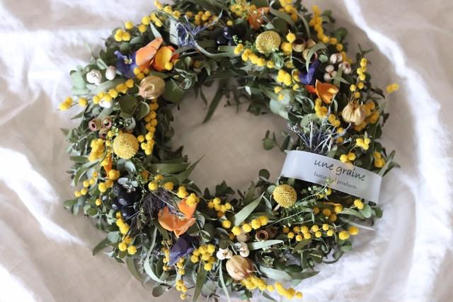 Mimosa spring wreath
