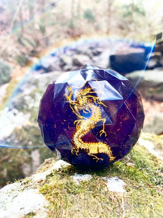 特大宝珠オルゴナイト龍神・20~宇宙・アセンション・目醒め・神聖・霊性向上・神秘性覚醒・霊性開花・霊能力アップ~