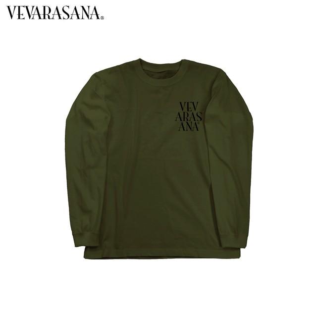 VEVARASANA®︎ ロゴロングTシャツ ブラック