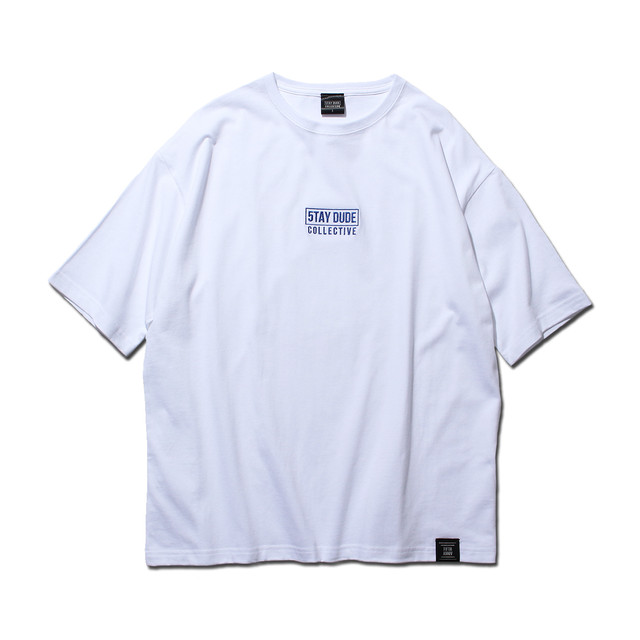 【STAY DUDE COLLECTIVE】5th Anniversary Logo SS Tee (WHITE)