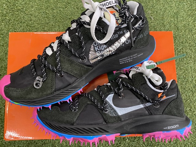 NIKE × OFF-WHITE W ZOOM TERRA KIGER 5 BLACK 23.5㎝ CD8179-001 200IG6696