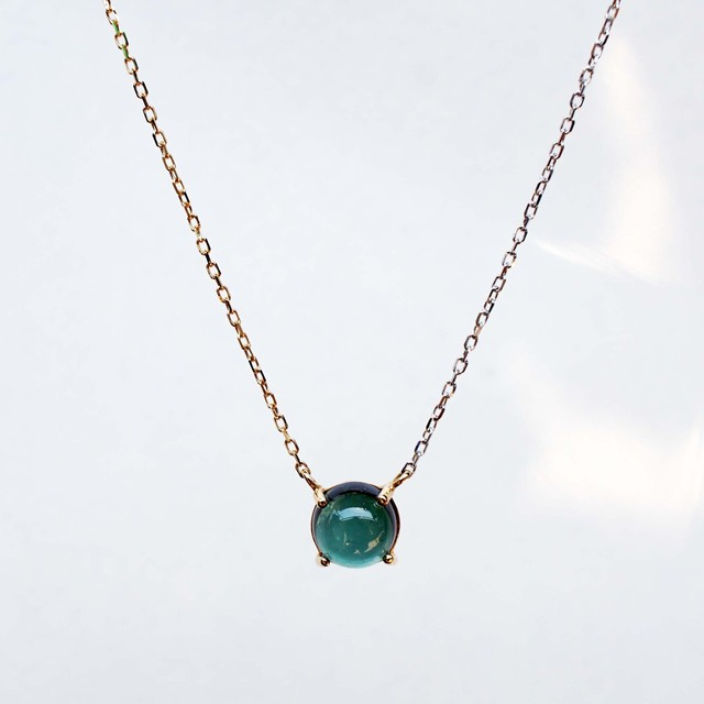 Green Tourmaline Necklace(N168-GT)